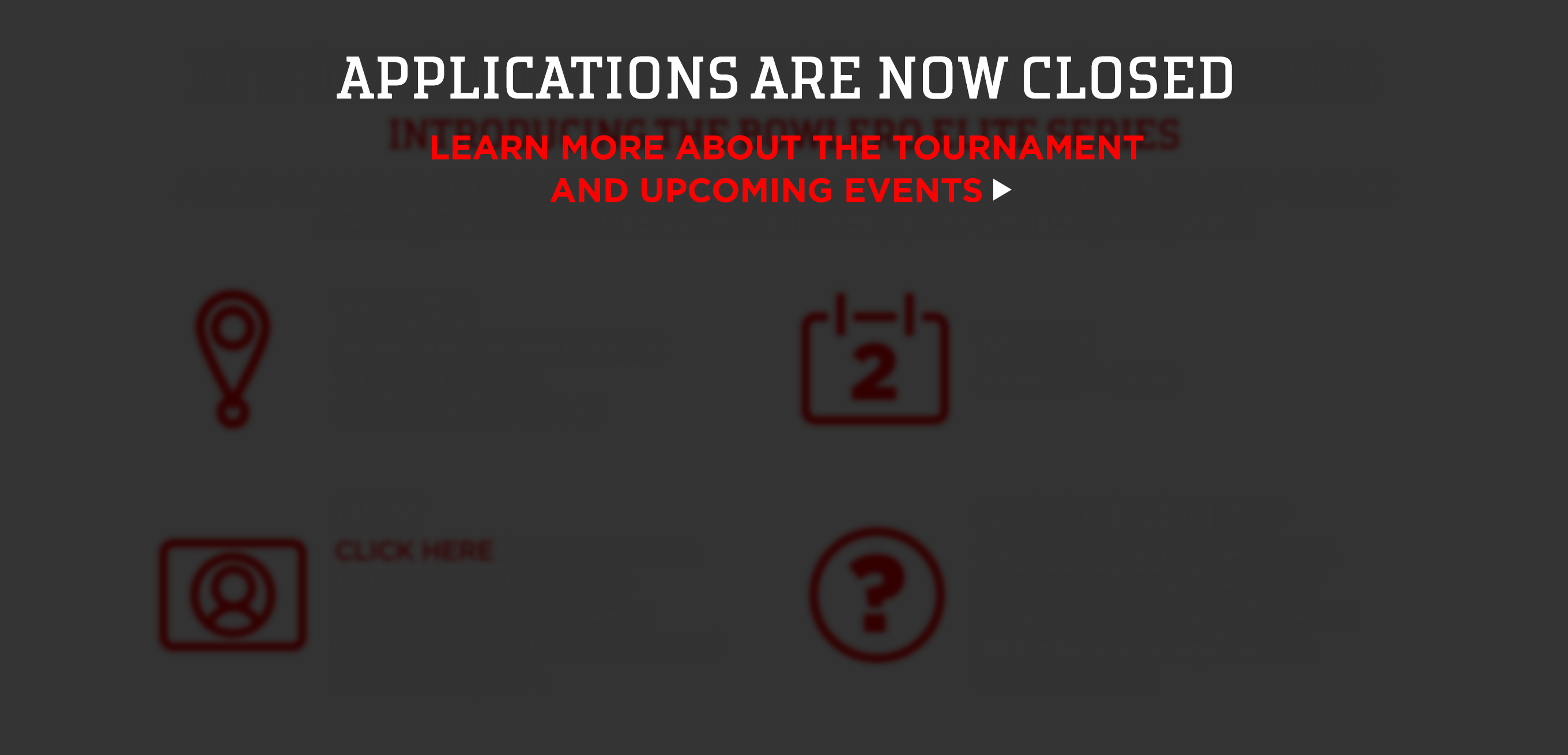 text: applications are now closed. learn more about the tournament and upcoming events.