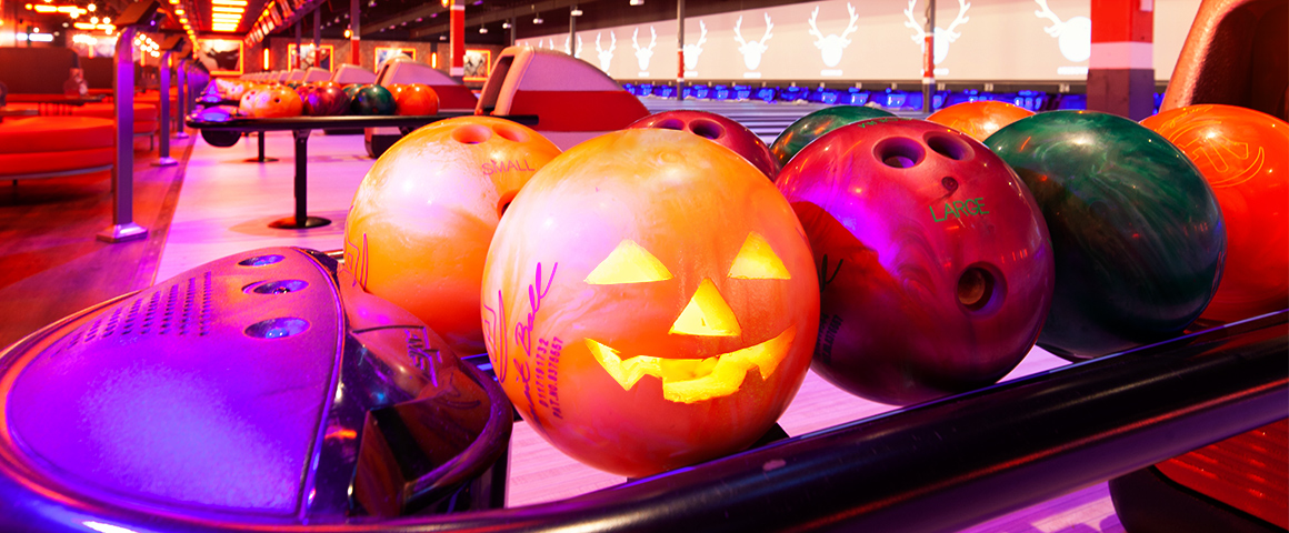 Pumpkin as a bowling ball