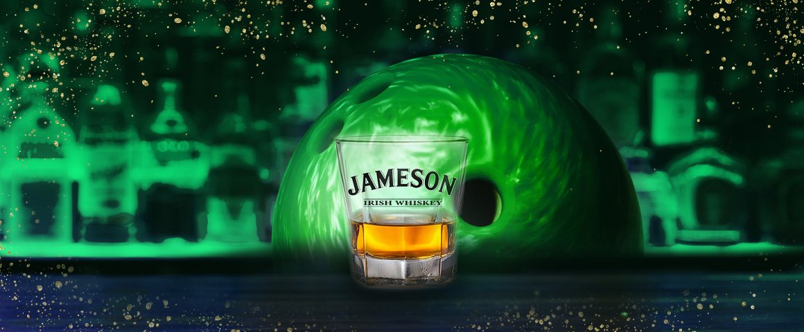 Jameson shot with a green bowling ball