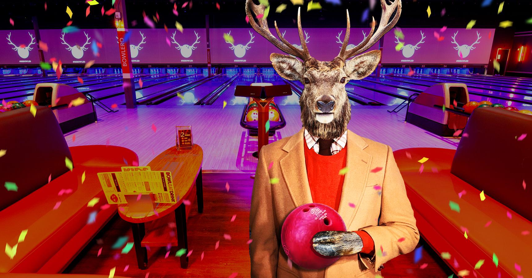 deer on bowling lanes