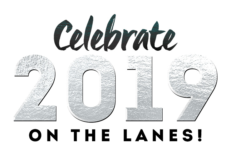 'Celebrate 2019 on the Lanes!' written out
