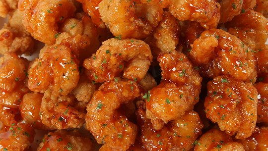 Close-up of shrimp poppers