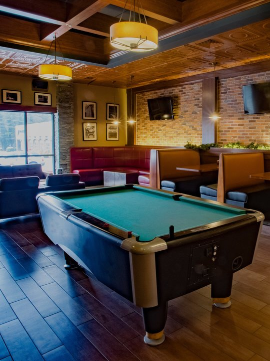 Billiards table and seating