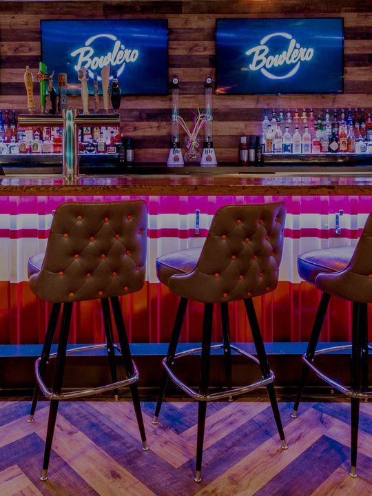 bar stools at the bar