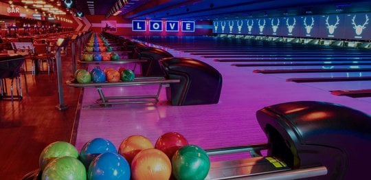 Shot of Ball Return and Lanes