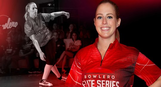 Amy the runner up of the 2nd Bowlero Elite Series