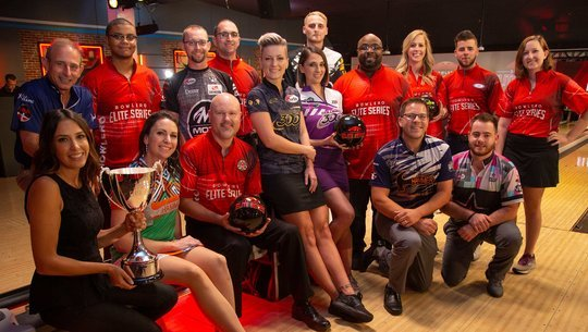 Bowlero Elite Series 2nd Tourament Players and PBA CEO Colie Edison