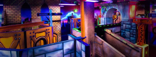 Laser tag arena from a higher vantage point