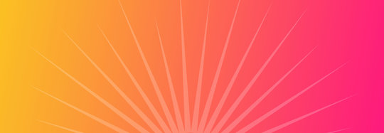 orange and pink gradient with sunburst motif