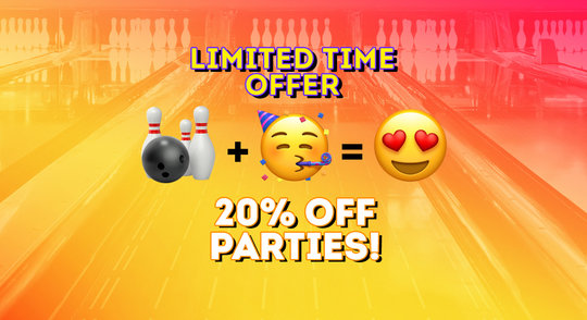 limited time offer 20% off parties