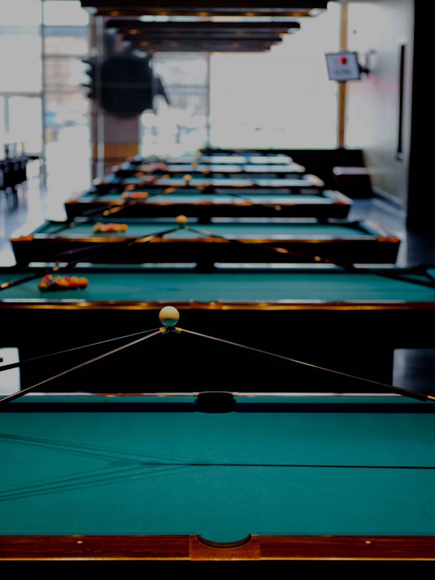 Green billiards tables