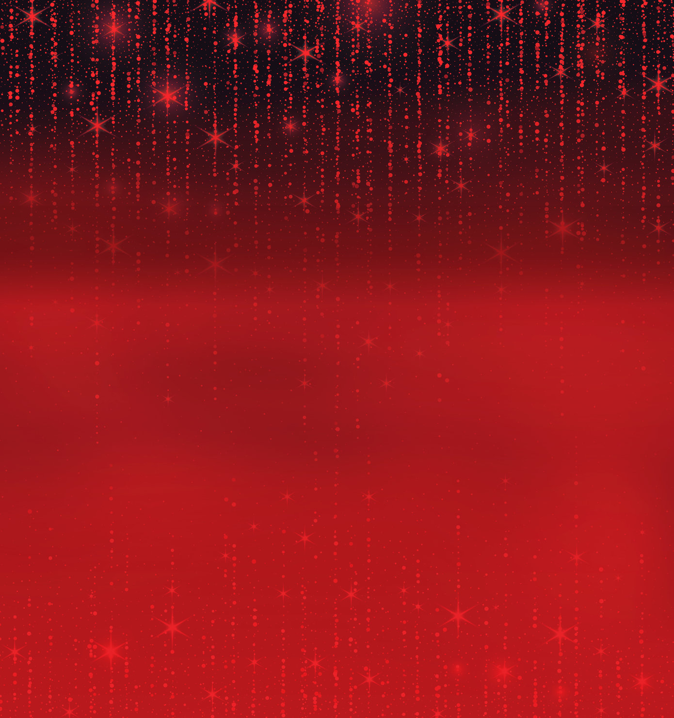 Red background with dark to light gradient and sparkles