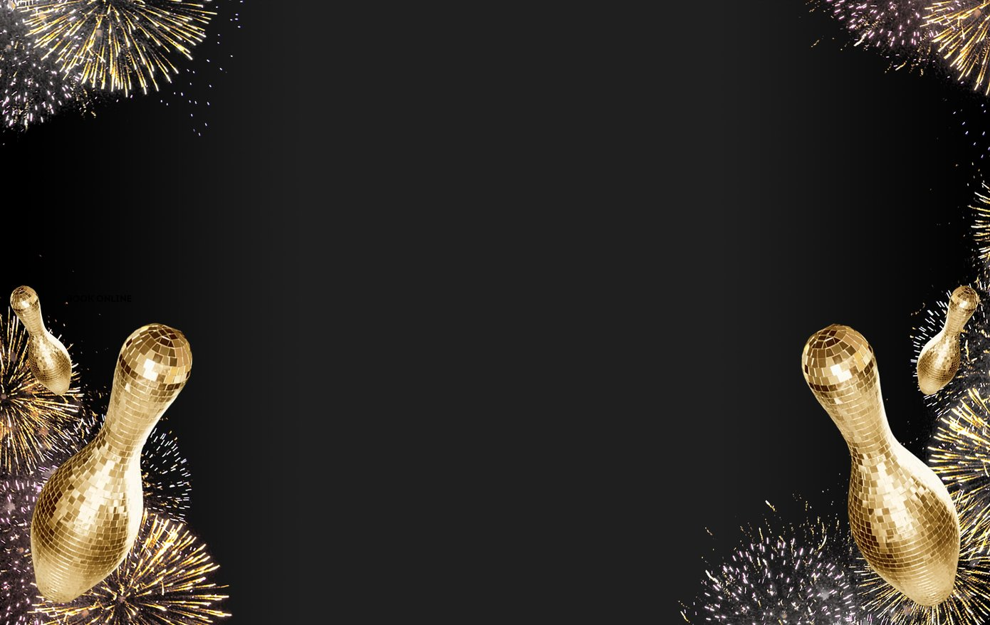 Fireworks and disco pins on a black background