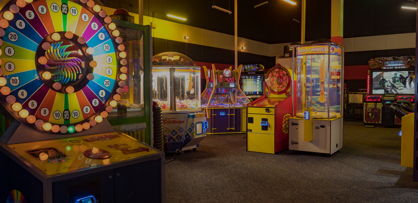 Arcade room with games