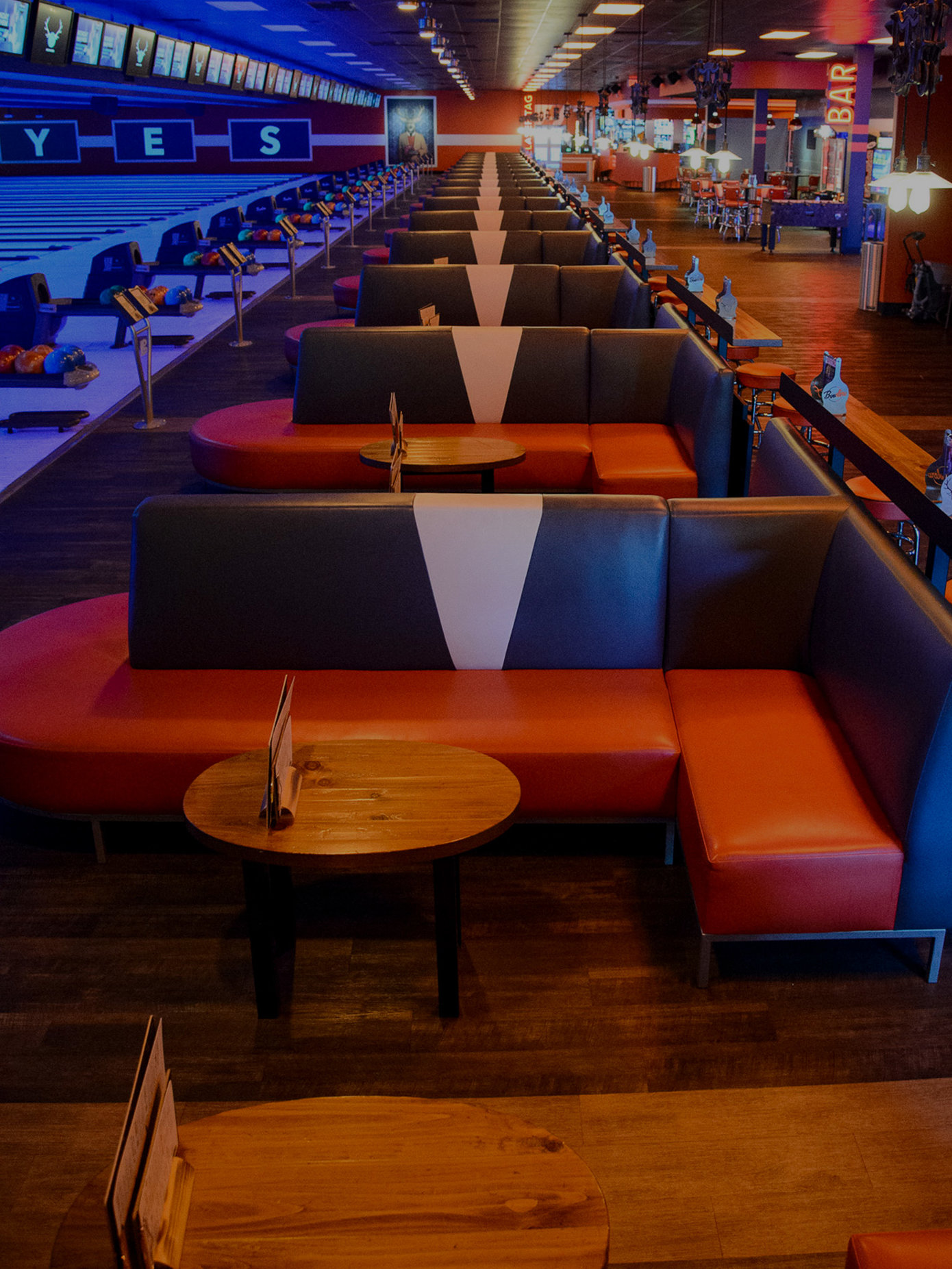 Landside lounge seating areas
