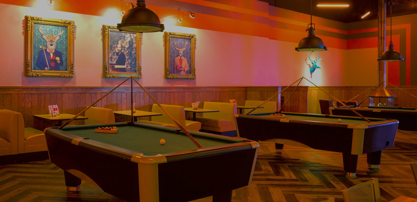 Pool tables at Bowlero St. Peters
