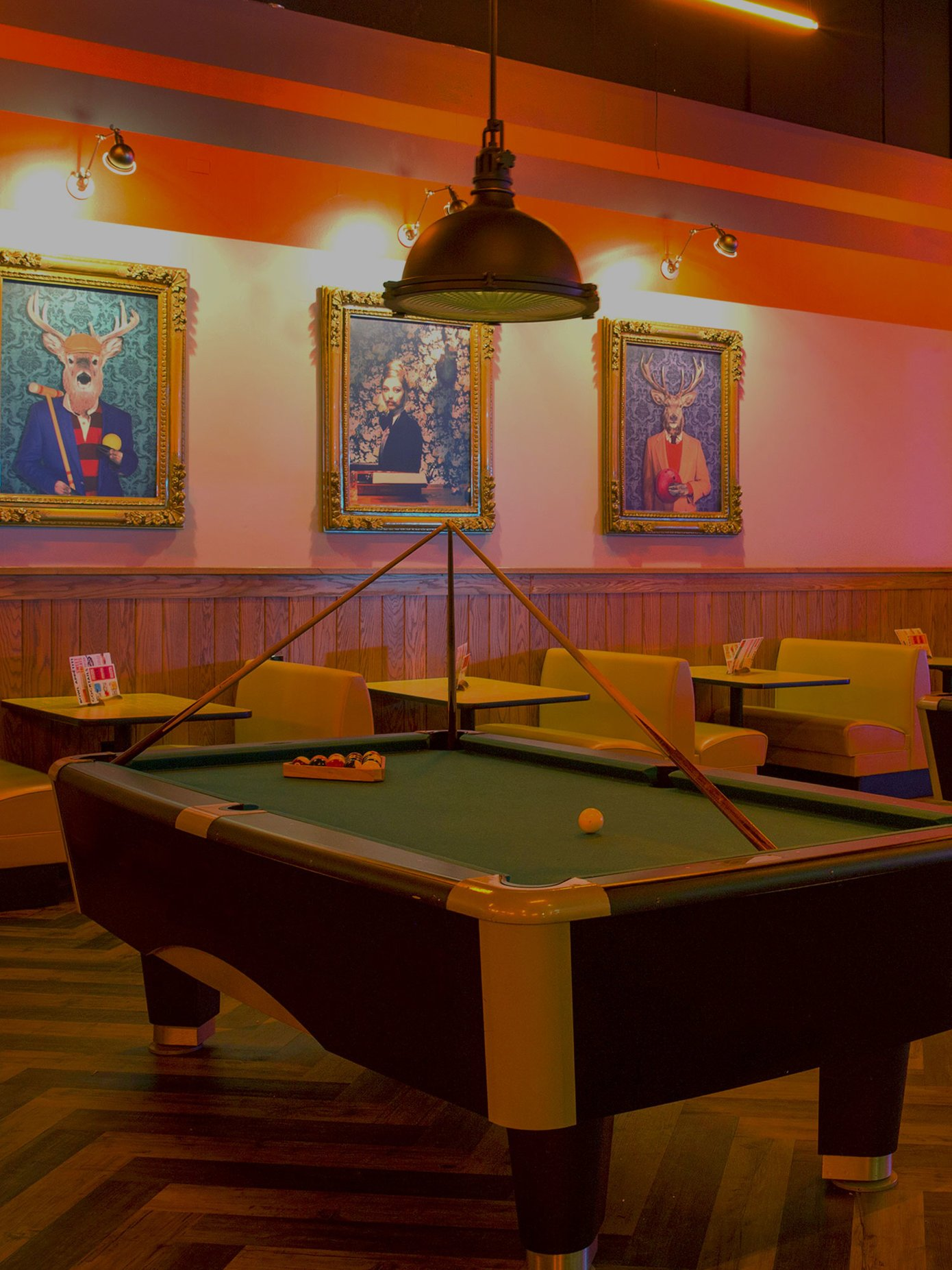 Pool table at Bowlero St. Peters