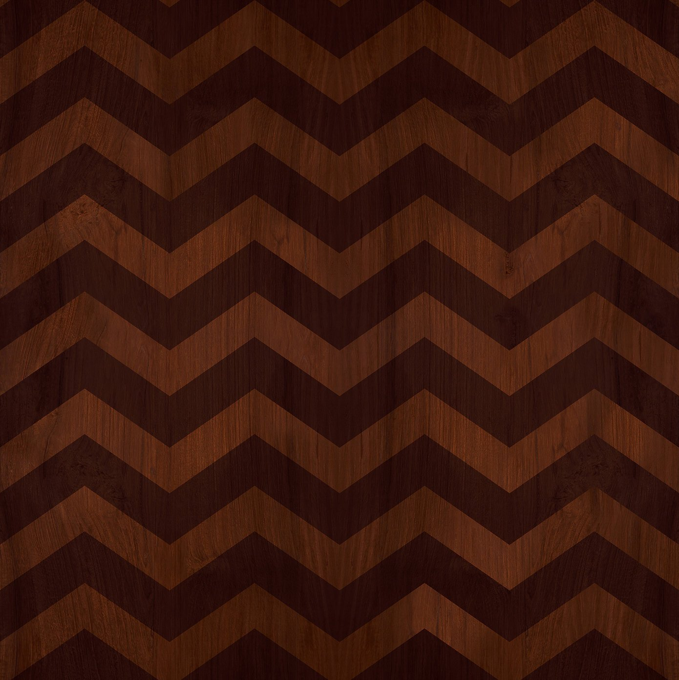 brown zig zag wood