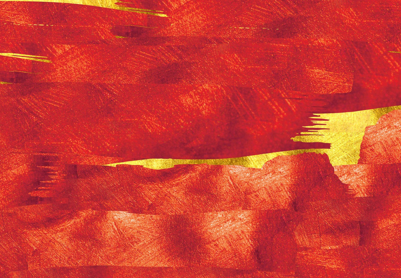 Red foil texture overlaying a gold texture