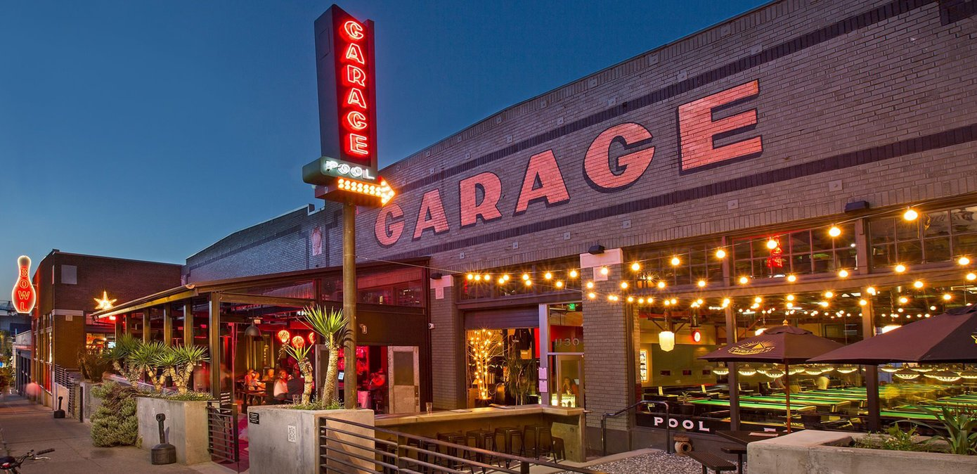 garage bowling alley exterior